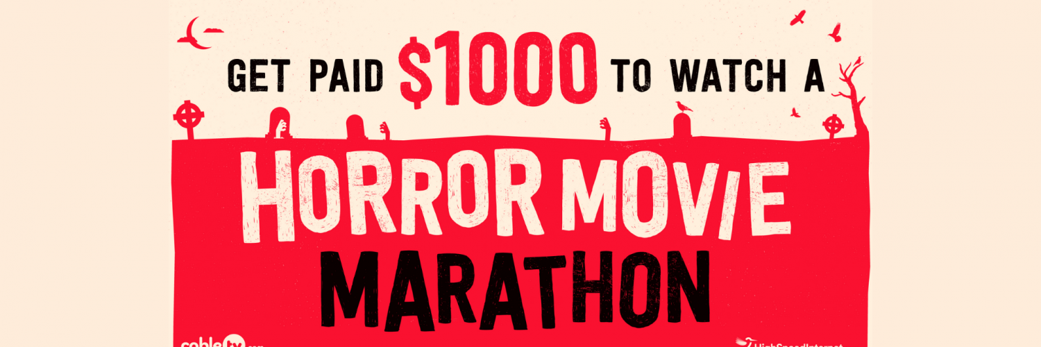 You can get Paid $1,000 to Watch Horror Movies of your Choice for 24 Hours Straight